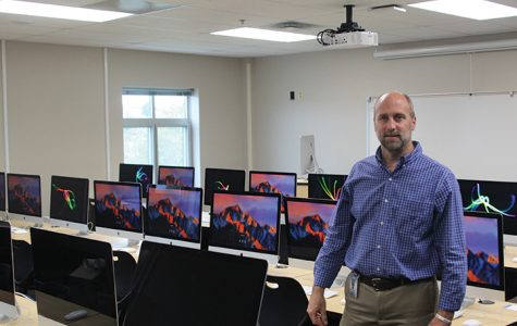 Addition of new computer lab relocates Graphic Design teacher Jerry Howard