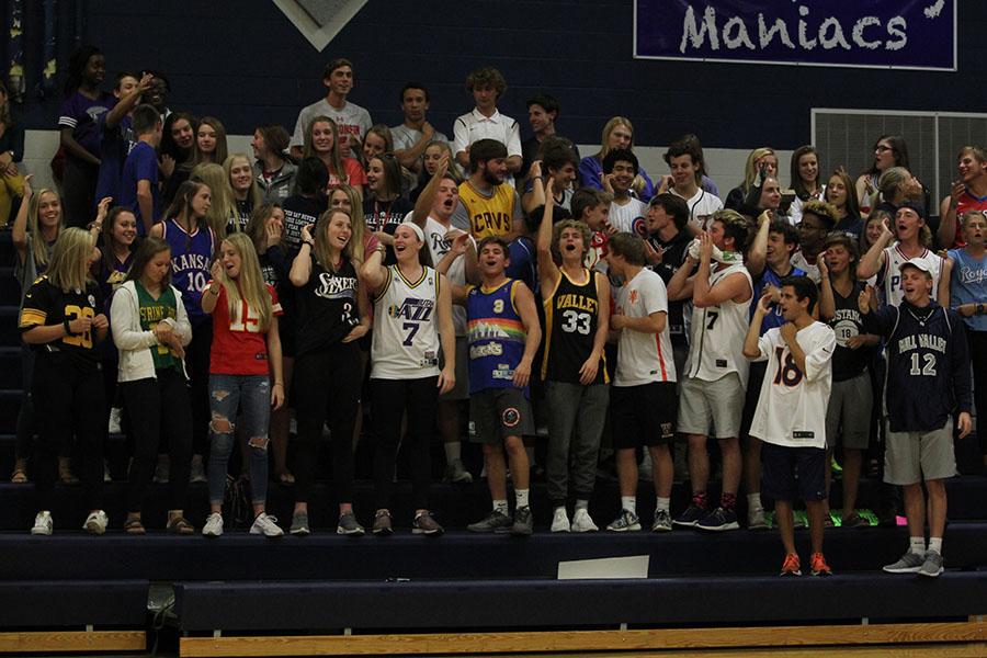 In+the+middle+of+a+timeout%2C+the+student+section+does+the+%22Chiefs+Chop.%22