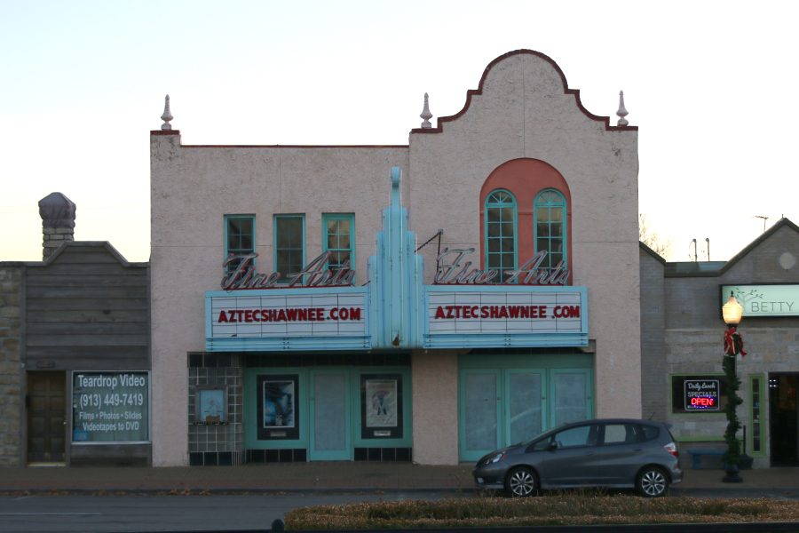 The+Aztec+Theater+located+on+the+corner+of+Neiman+and+Johnson+drive%2C+is+scheduled+to+reopen+in+the+spring+of+2018.++++