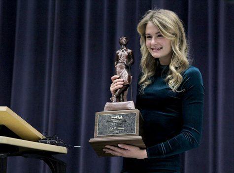 Senior Bella Hadden receives the Kenneth Smith award