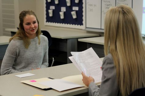 Students receive real-world experience through mock interviews