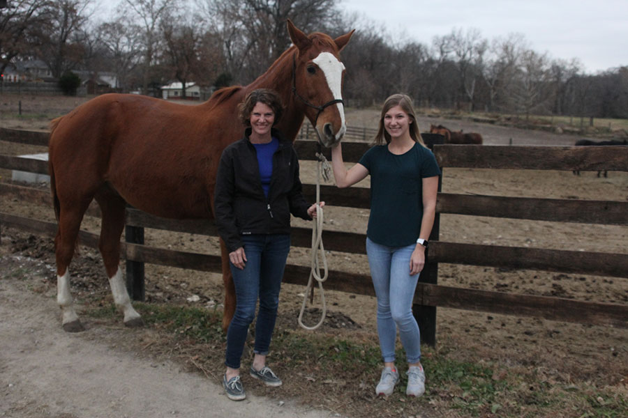 Since the late 1960s Twin Mill Farm, owned by senior Britton Nelson's family, has been a way for people to board their horses in Shawnee.