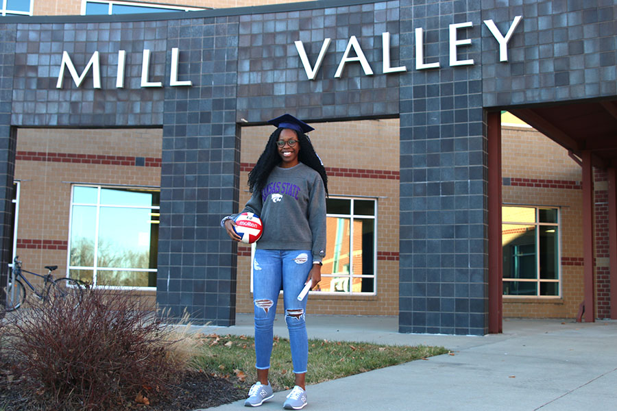 After the conclusion of first semester, senior Abigail Archibong will graduate and travel to Manhattan, KS where she will begin her first semester at Kansas State University and continue her volleyball career.