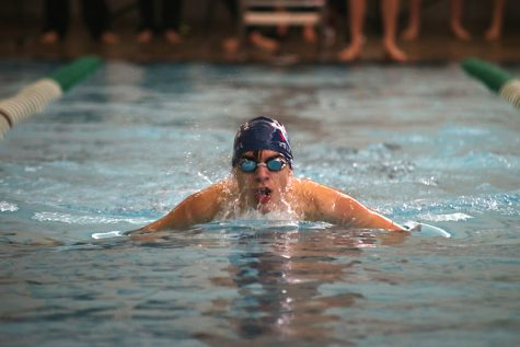 Boys swim places ninth at Timberwolf Invitational meet