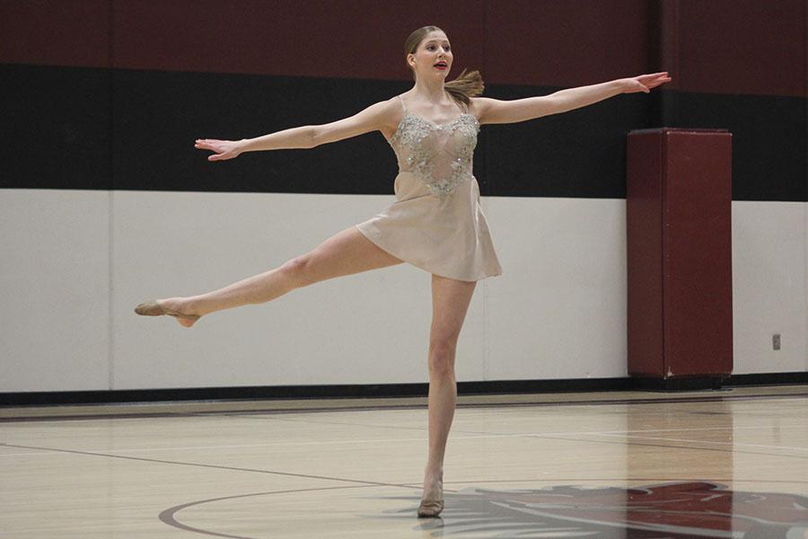 Junior+Addie+Ward+dances+in+her+solo+routine.+