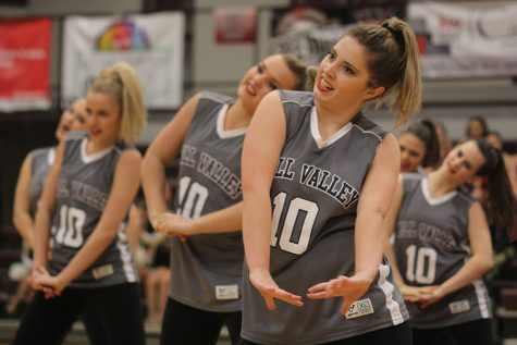 Silver Studs join the Silver Stars dance team for halftime performance