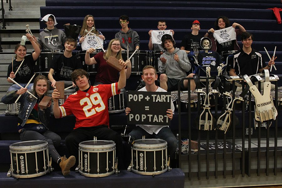 Over the past few years, the drumline has come up with a number of traditions that have strengthened the bond between the section and band as a whole.