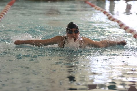Girls swim takes second at first meet of season