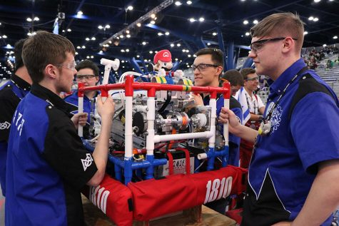 Robotics team wins half of matches at world championship in Houston, Texas