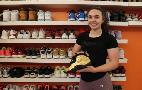 Collecting sneakers in large numbers proves to be a unique hobby for students