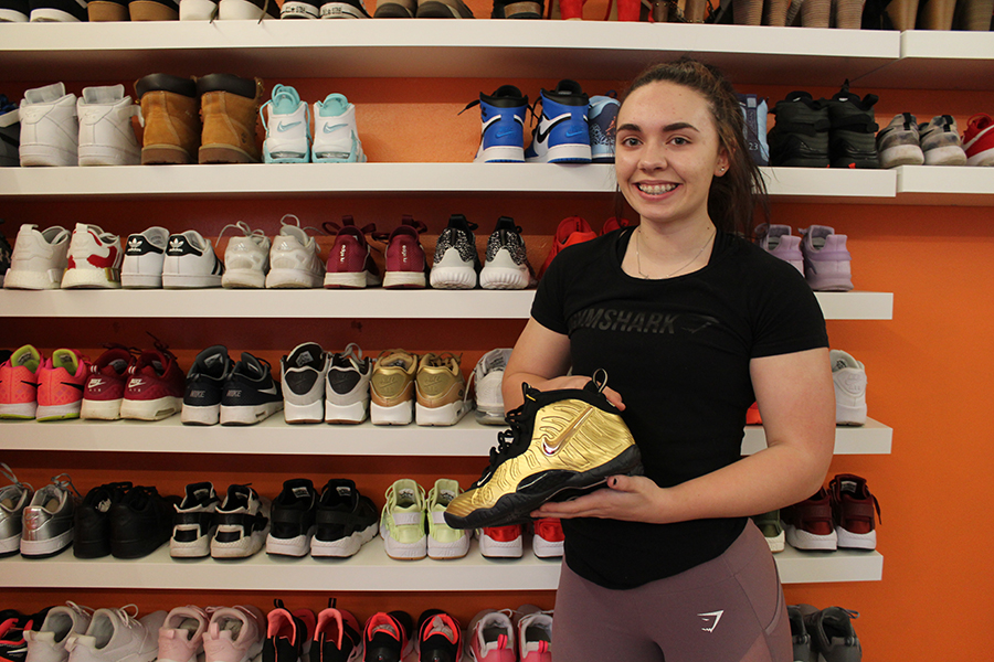 "After accumulating over 116 pairs, junior Abby Berner has created a shoe wall that allows the shoes to both enhance her room and outfits. ""If I'm wearing a bad outfit, then people pay attention to [my] shoes and that makes [my] outfit look good,"" Berner said."