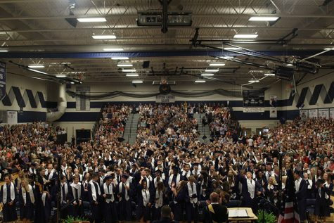 Class of 2018 celebrates graduation indoors