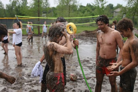 Mud volleyball marks the end of Mayhem Week