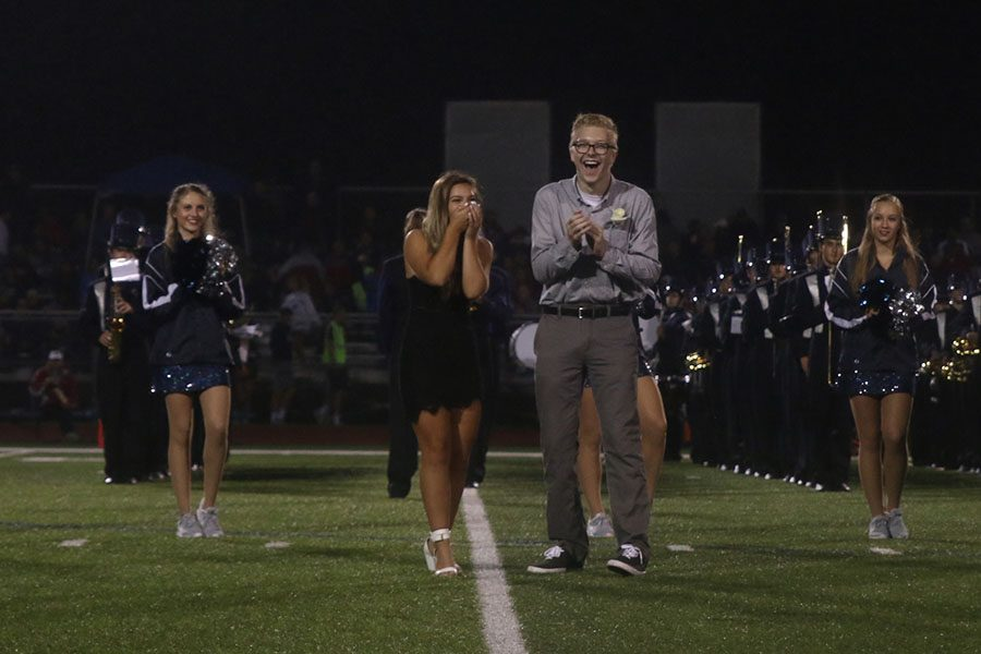 Senior+Lilli+Milberger+bring+her+hands+to+her+face+in+surprise+after+being+announced+homecoming+queen.