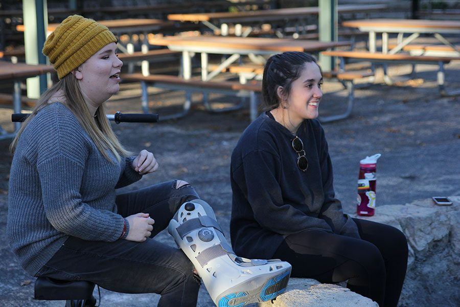 """MV Outfitters hosted a bonfire Sunday Oct. 28th at Shawnee Mission Park as one of their big events of the year. """"We try to put in a fun activity mixed with a little bit of informational stuff,"""" senior co-president Madelyn Lehn said, """"So we can go and do [events] like the bonfire."""""""