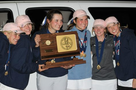 Girls golf team wins school's first 6A state title