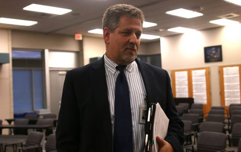 """Following a Board of Education meeting on Monday, Oct. 1, Superintendent Frank Harwood explains new security measures. """"Front office security is about delaying somebody who is trying to do something bad,"""" Harwood said. """"It slows them down, which is the biggest part of this."""""""