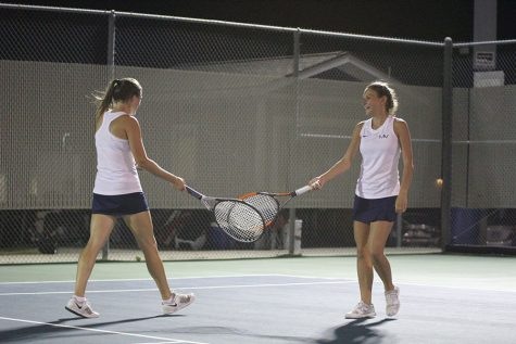 Gallery: Girls tennis competes at regional tournament after six-hour delay
