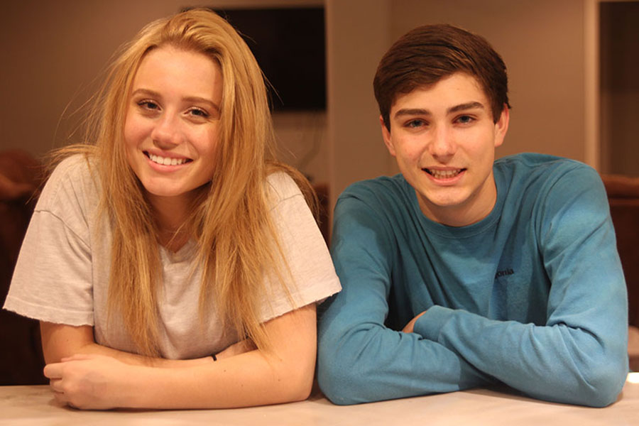 """Over the course of nine years, junior Emma Smith and senior Alec Schiffman have developed a close relationship as siblings. """"Our family has grown very close and I consider my step brothers just as close to me as I consider my blood brother,"""" said Emma Smith."""