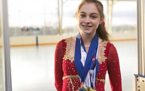 Sophomore Brinna Russell ice skates competitively