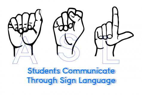 Students communicate nonverbally through sign language