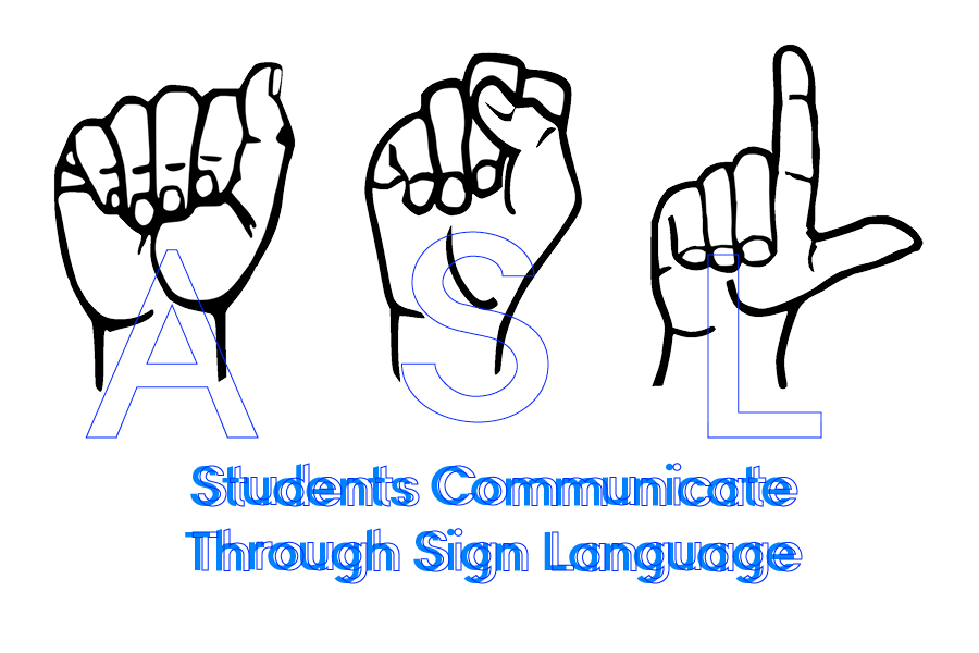 Students+communicate+nonverbally+through+sign+language