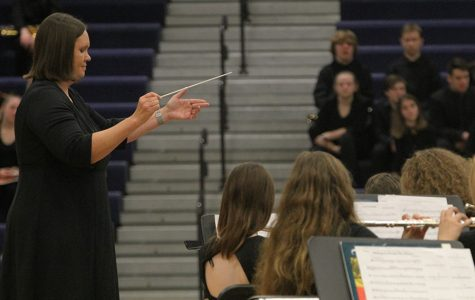 Blue and Silver bands perform concert at school