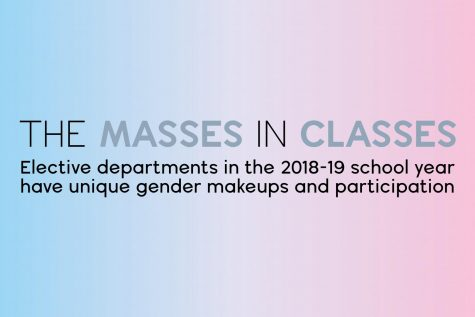 Graphic: specific elective departments hold unique gender makeups