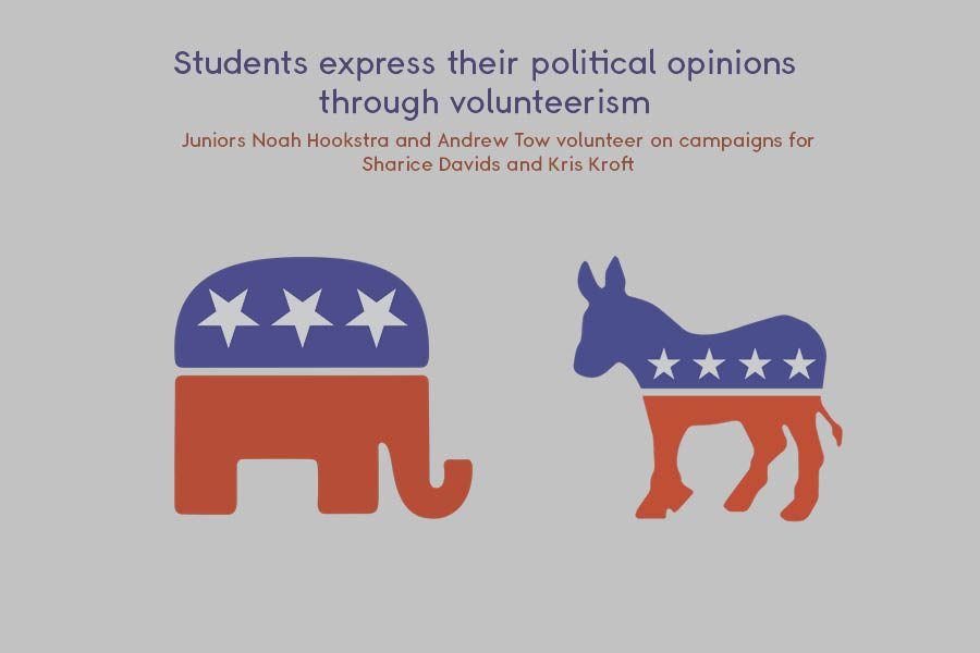 Students express their political opinions through volunteerism