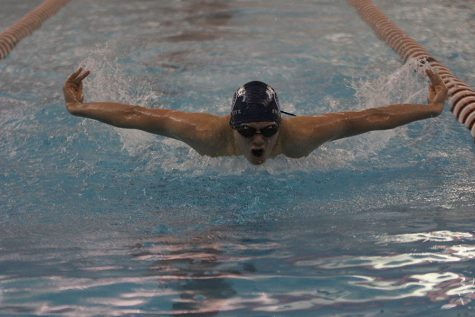Boys swim places second at Blue Valley West Invitational