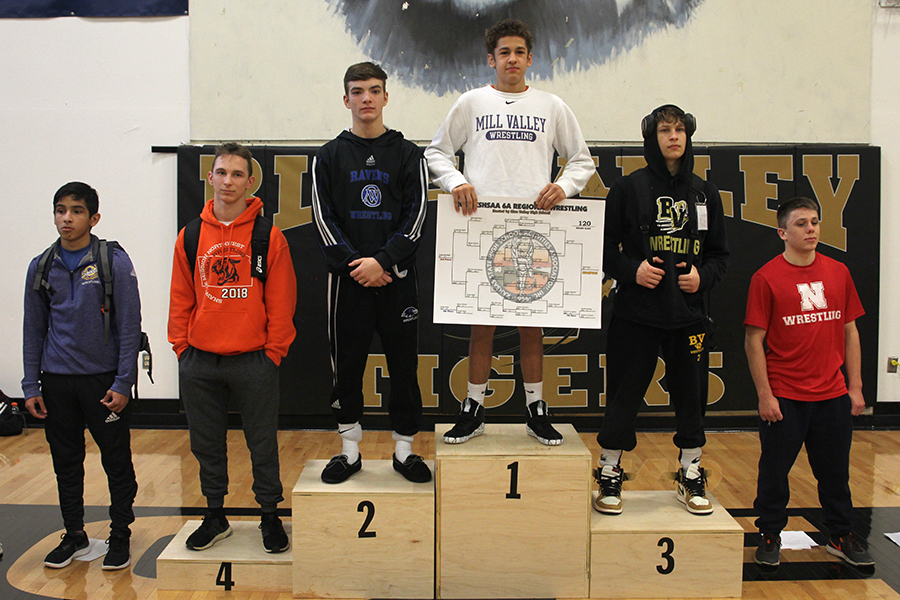 Holding+the+bracket+results%2C+junior+Zach+Keal+becomes+2019+6A+Regional+champion+in+the+120lb+weight+class.