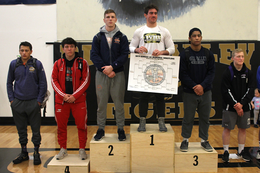 After+winning+his+match%2C+junior+Tyler+Green+places+third+at+regionals+in+the+182lb+weight+class.