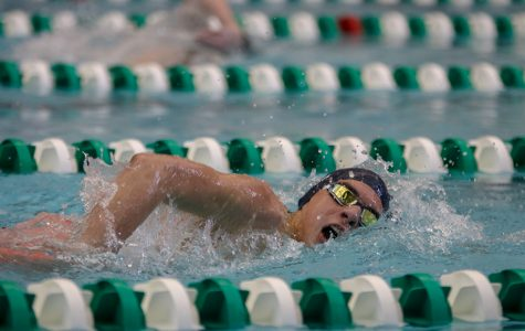 Boys swim team competed in EKL meet at Blue Valley Southwest