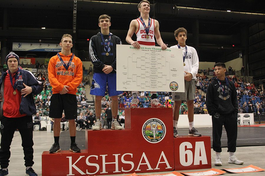 Junior Zach Keal placed third in the 120-pound weight class.