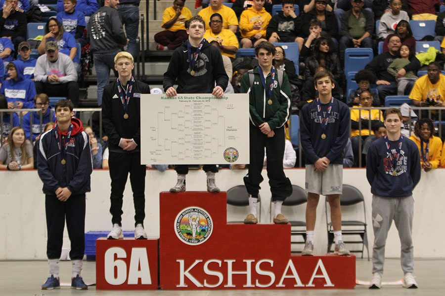 Junior Austin Keal placed fourth in the 132-pound weight class.