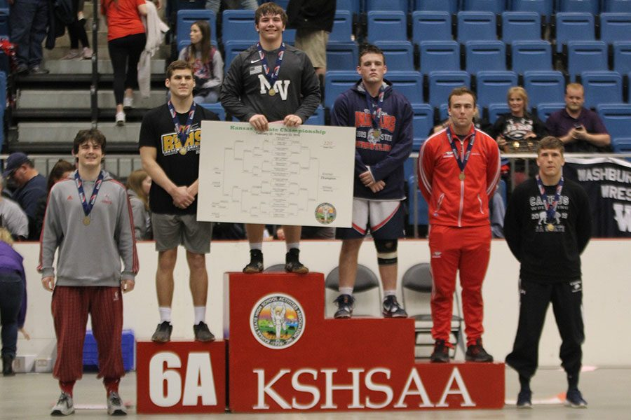 Sophomore Ethan Kremer won the state championship in the 220-pound weight class.