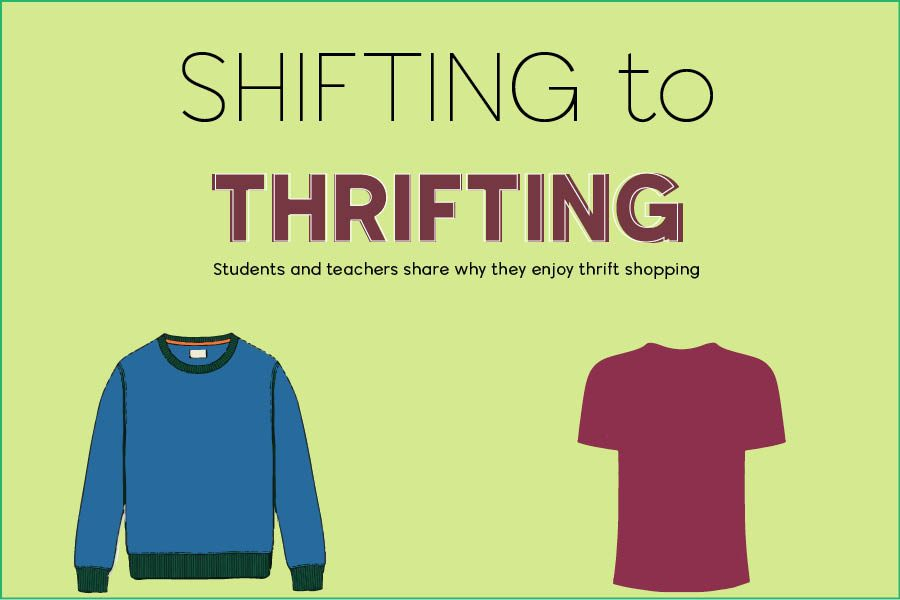 Students and teachers at the school explain why they enjoy thrifting