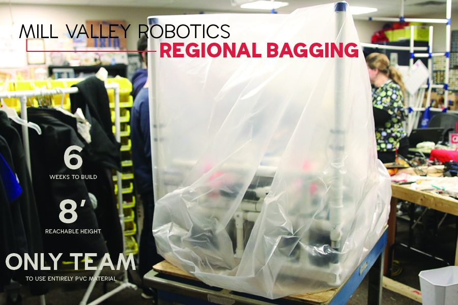 The Robotics team and their sponsors completed the building process by bagging their robot on Tuesday, Feb. 19.