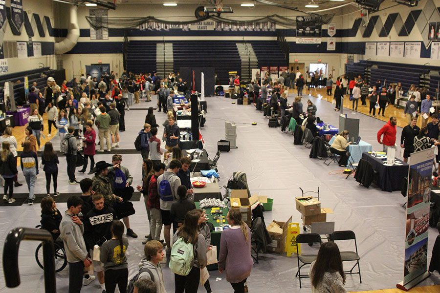 Students attend an improved Career Fair