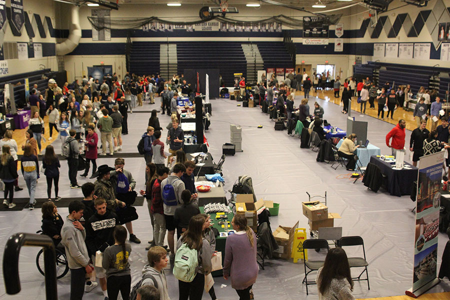 Students from Mill Valley High school and Desoto High school visit many businesses and colleges during the career fair.
