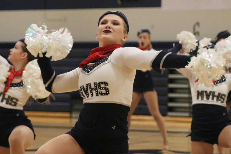 At+the+spring+show+on+Saturday%2C+March+30%2C+sophomore+Jenna+Haase+performs+in+the+pom+routine.