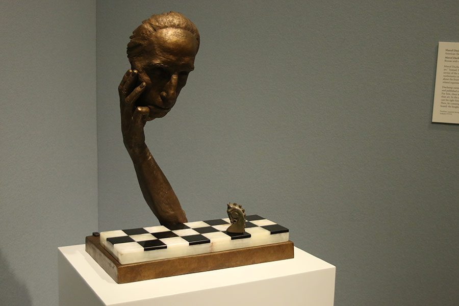 """""""Cast Alive,"""" painted in 1967 by Marcel Duchamp, was inspired by Duchamp's status as a chess master and his interest in mathematics."""