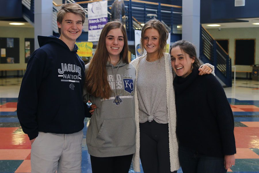 Becoming leaders as STUCO members has become a great way for senior Hannah Barnes, junior Annie Bogart, sophomore Ellie Boone and freshman Bret Webber to use their leadership skills and benefit the school.