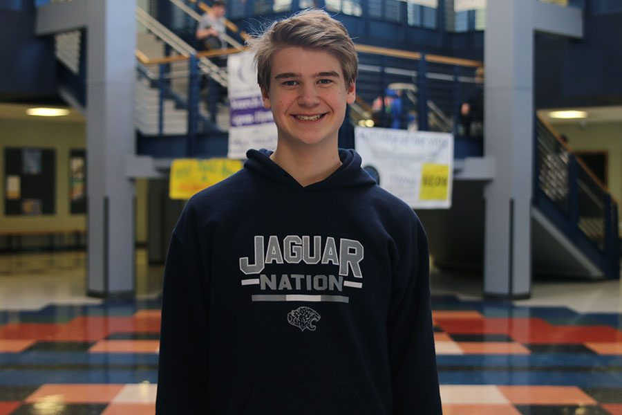 In his first year of high school, freshman Bret Webber has taken an active role in StuCo as a way to become a leader.