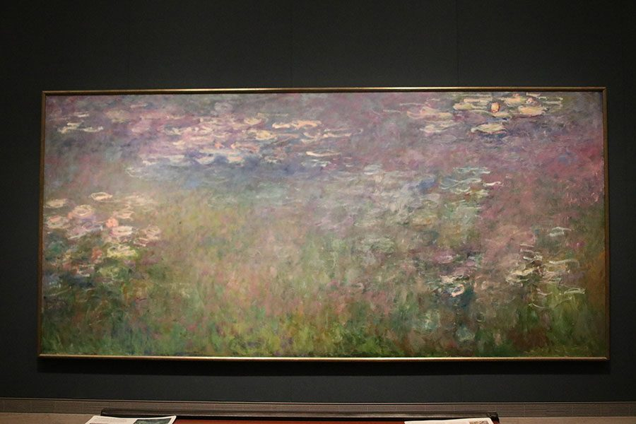 """""""Water Lilies,""""  painted by Claude Monet from 1915-1926, was inspired by the the pond on Monet's property."""