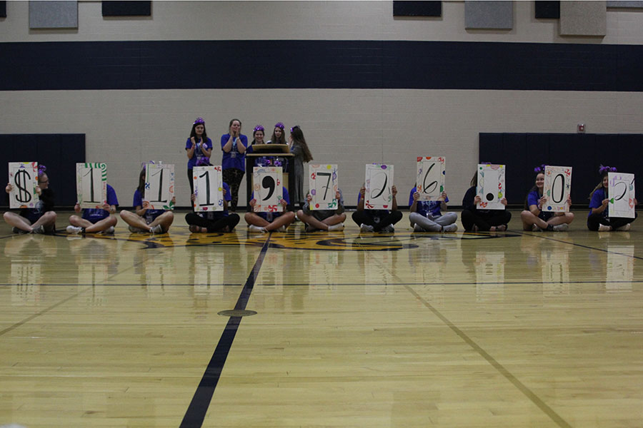 At the end of Relay For Life, the committee reveals the amount of money raised to be $111,726.02.
