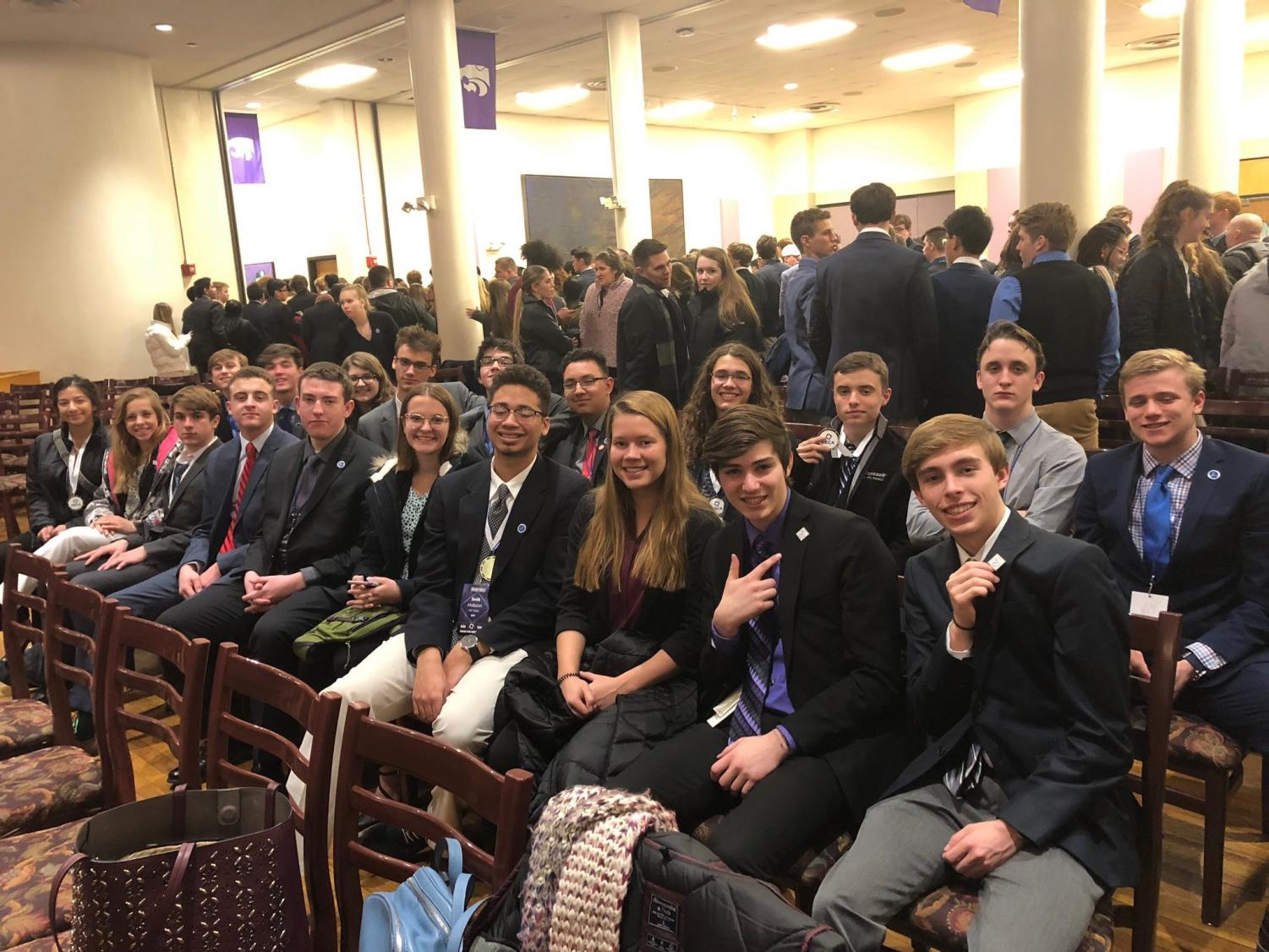 Members of DECA at the State conference in Manhattan.