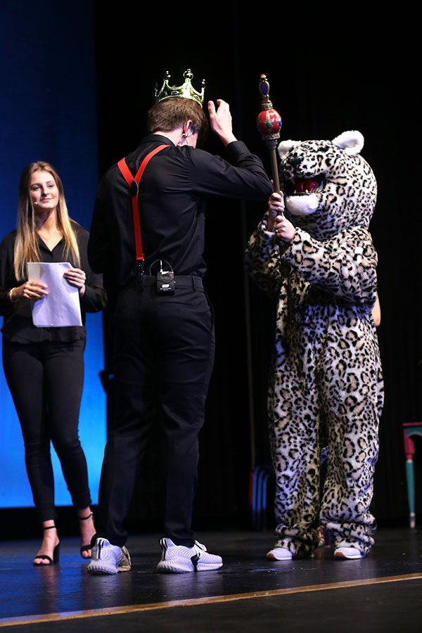 In the fifth annual event, junior Cline Boone is crowned Mr. Mill Valley.