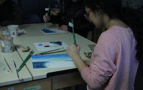 NAHS hosts Bob Ross painting party
