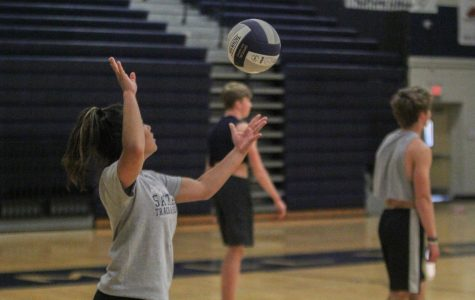 Five teams participate in the annual Kick Butts volleyball tournament